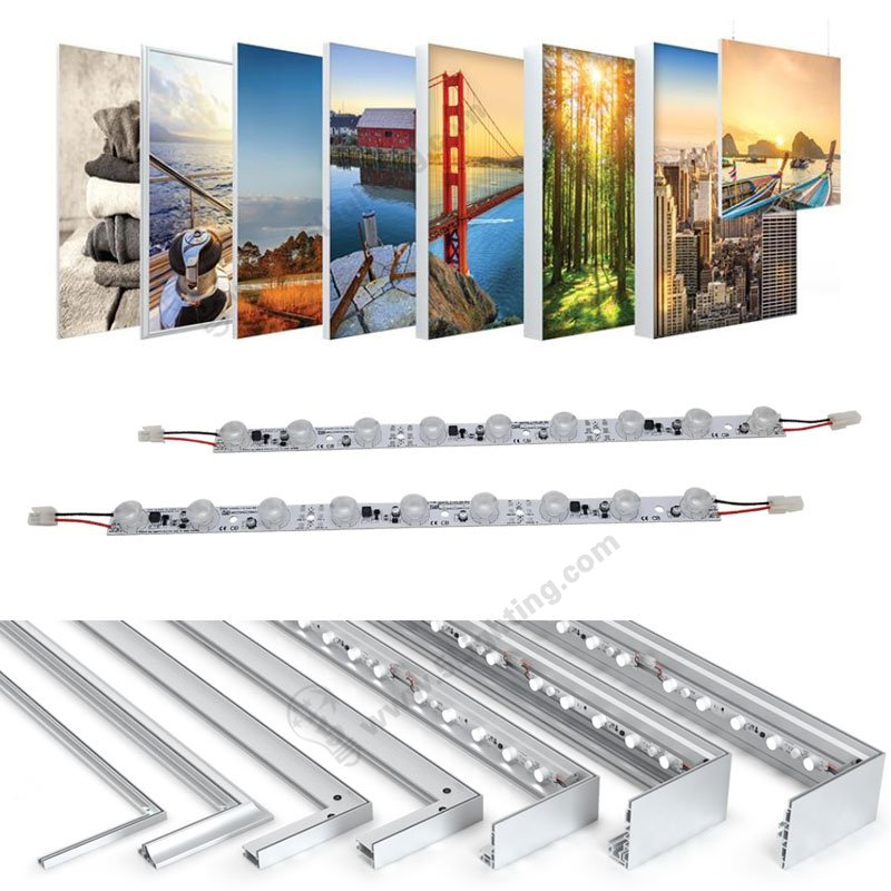Osram light box strip lights, edge-lit