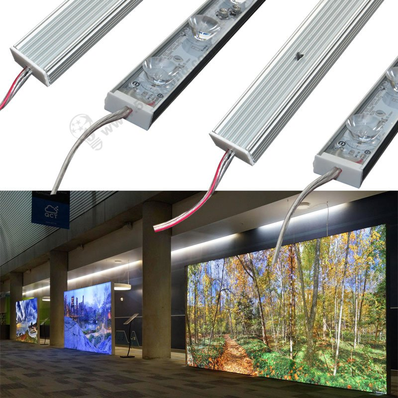 IP65 edge-lit modules for light boxes display