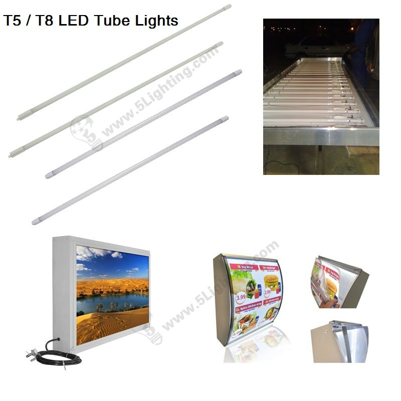 T5 / T8 LED Tube Lights for light boxes