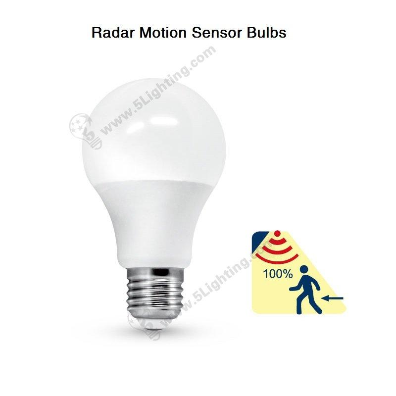 Motion Sensor Bulbs Radar Motion Detector 5 8 Watts